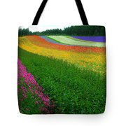 The Rainbow Of Flower At Hokkaido Tote Bag