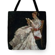 The Reader Tote Bag by Alfred Emile Stevens
