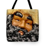 The Real Black Santa Tote Bag by Christine Till