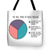 The Real Perks Of Being Bisexual Tote Bag