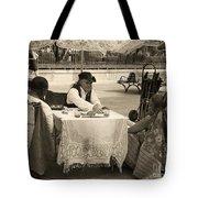 The Realistic Mystic-sepia Tote Bag