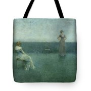 The Recitation Tote Bag by Thomas Wilmer Dewing