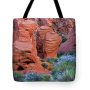 The Red And The Blue Tote Bag by Christine Till