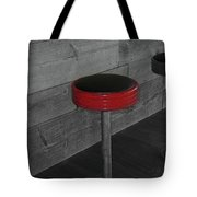 The Red Bar Stool Tote Bag