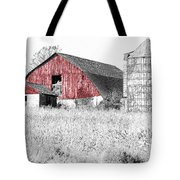 The Red Barn - Sketch 0004 Tote Bag by Ericamaxine Price