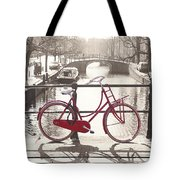 The Red Bicycle Of Amsterdam Tote Bag