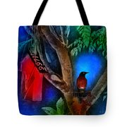 The Red Birdhouse Tote Bag