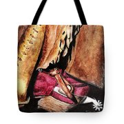 The Red Boot Tote Bag