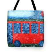 The Red Bus Tote Bag