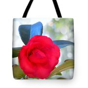 The Red Camellia Tote Bag