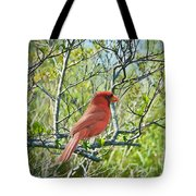 The Red Cardinal Tote Bag
