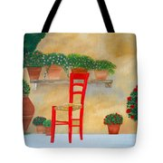 The Red Chair, Tuscany Tote Bag