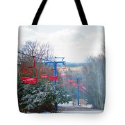 The Red Chairlift Tote Bag
