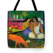 The Red Dog Tote Bag
