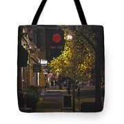 The Red Dot At Night Tote Bag