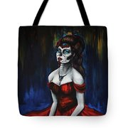 The Red Dress Tote Bag