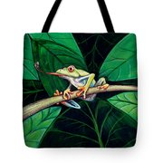 The Red Eyed Tree Frog Tote Bag