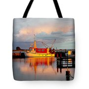 The Red Fishing Boat Tote Bag