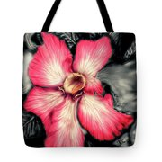 The Red Flower Tote Bag by Darren Cannell