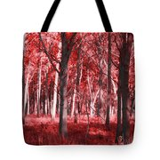 The Red Forest Tote Bag