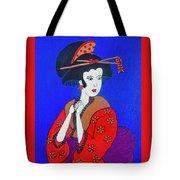 The Red Geisha Tote Bag