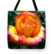The Red Gold Rose Tote Bag