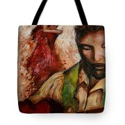 The Red Guitar Tote Bag