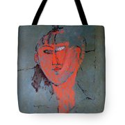 The Red Head Tote Bag by Amedeo Modigliani