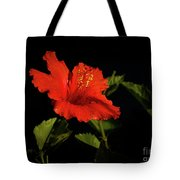 The Red Hibiscus Tote Bag