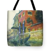 The Red House Tote Bag by Claude Monet