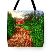The Red House In Finland Tote Bag