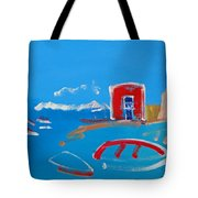 The Red House  La Casa Roja Tote Bag