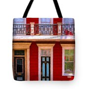 The Red House-nola-faubourg Marigny Tote Bag