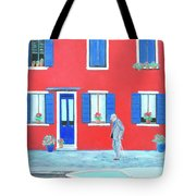 The Red House On The Island Of Burano Tote Bag