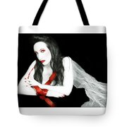 The Red Lie - Self Portrait Tote Bag