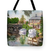 The Red Lion Inn By The Riverbank Tote Bag