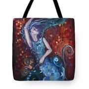 The Red Ocean Tote Bag