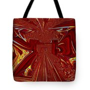 The Red Palace In Abstract Tote Bag