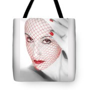 The Red Realm - Self Portrait Tote Bag