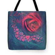 The Red Rose Of Love Tote Bag