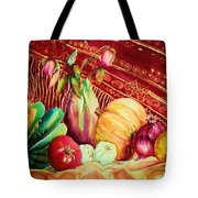 The Red Shawl  Tote Bag