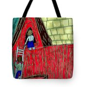 The Red Shed Club House That Dad Built Tote Bag
