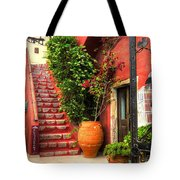The Red Staircase Tote Bag by Michael Garyet
