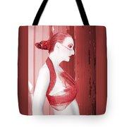 The Red Stripe - Self Portrait Tote Bag
