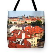 The Red Tile Roofs Of Prague Tote Bag