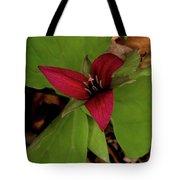 The Red Trillium Tote Bag