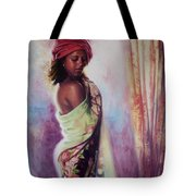 The Red Turban Tote Bag