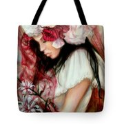 The Red Veil Tote Bag