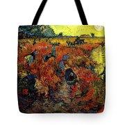 The Red Vineyard At Arles Tote Bag