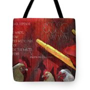 The Red Wheelbarrow Tote Bag